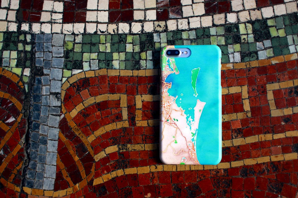 Map Cases - Snap Case - iPhone 7+